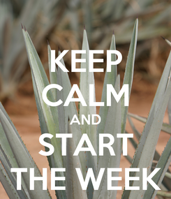 Poster: KEEP CALM AND START THE WEEK