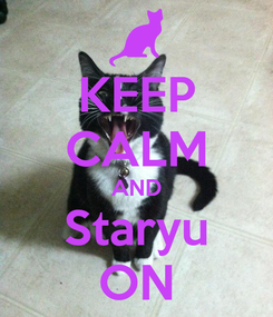 Poster: KEEP CALM AND Staryu ON