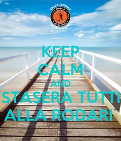 Poster: KEEP CALM AND STASERA TUTTI ALLA RODARI