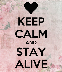 Poster: KEEP CALM AND STAY ALIVE