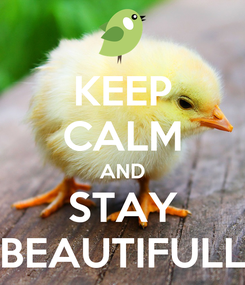 Poster: KEEP CALM AND STAY BEAUTIFULL