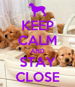 Poster: KEEP CALM AND STAY CLOSE