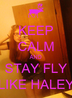 Poster: KEEP CALM AND STAY FLY LIKE HALEY