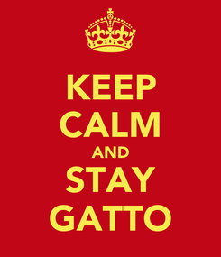 Poster: KEEP CALM AND STAY GATTO
