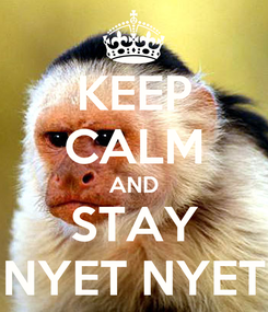 Poster: KEEP CALM AND STAY NYET NYET