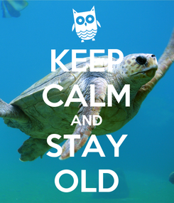Poster: KEEP CALM AND STAY OLD