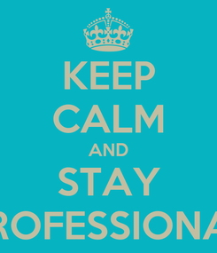 Poster: KEEP CALM AND STAY PROFESSIONAL