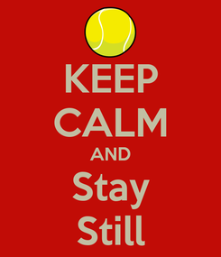 Poster: KEEP CALM AND Stay Still