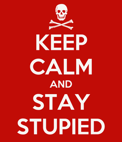 Poster: KEEP CALM AND STAY STUPIED