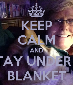 Poster: KEEP CALM AND STAY UNDER A BLANKET