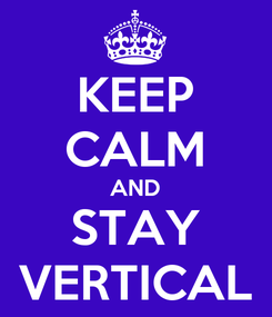 Poster: KEEP CALM AND STAY VERTICAL