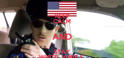 Poster: KEEP CALM AND STAY WHITE JAMIE K.