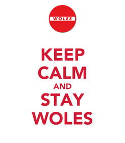 Poster: KEEP CALM AND STAY WOLES