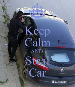 Poster: Keep Calm AND  Steal Car