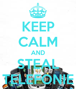 Poster: KEEP CALM AND STEAL TELEFONIE