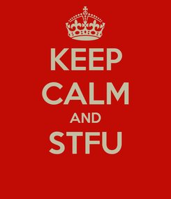 Poster: KEEP CALM AND STFU