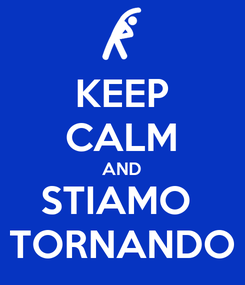 Poster: KEEP CALM AND STIAMO  TORNANDO