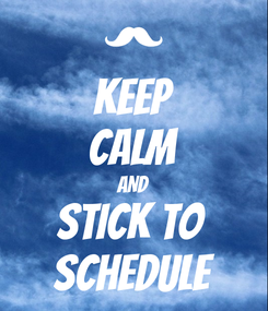 Poster: KEEP CALM AND STICK TO  SCHEDULE