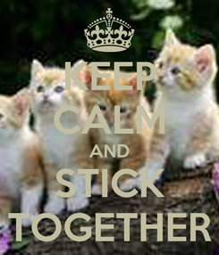 Poster: KEEP CALM AND STICK TOGETHER