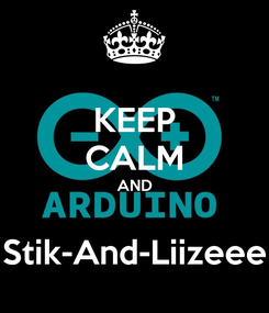 Poster: KEEP CALM AND  Stik-And-Liizeee