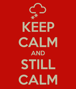 Poster: KEEP CALM AND STILL CALM