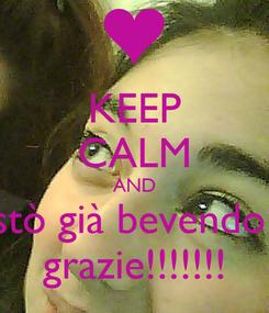 Poster: KEEP CALM AND stò già bevendo  grazie!!!!!!!