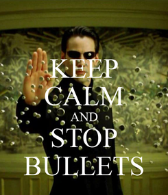 Poster: KEEP CALM AND STOP BULLETS