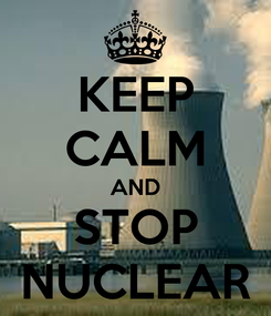 Poster: KEEP CALM AND STOP NUCLEAR