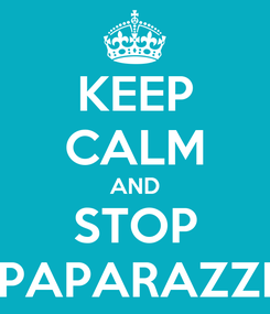 Poster: KEEP CALM AND STOP PAPARAZZI