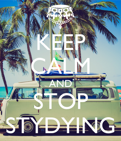 Poster: KEEP CALM AND STOP STYDYING