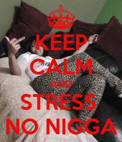 Poster: KEEP CALM AND STRESS  NO NIGGA