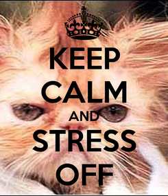 Poster: KEEP CALM AND STRESS OFF