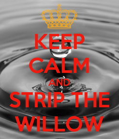 Poster: KEEP CALM AND STRIP THE WILLOW