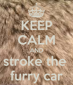Poster: KEEP CALM AND stroke the  furry car