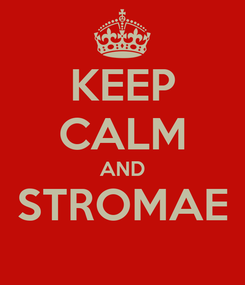 Poster: KEEP CALM AND STROMAE