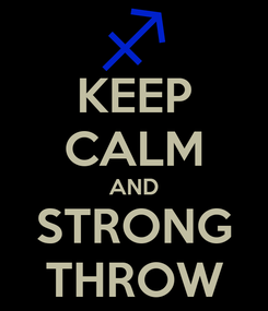 Poster: KEEP CALM AND STRONG THROW
