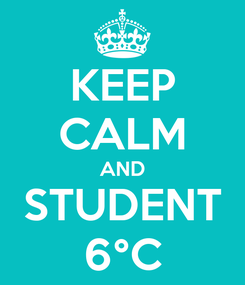 Poster: KEEP CALM AND STUDENT 6°C