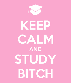 Poster: KEEP CALM AND STUDY BITCH