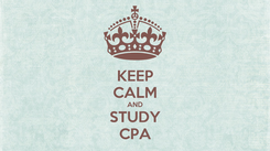 Poster: KEEP CALM AND STUDY CPA