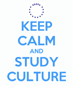 Poster: KEEP CALM AND STUDY CULTURE