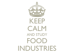 Poster: KEEP CALM AND STUDY FOOD INDUSTRIES