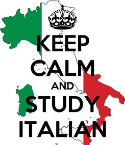 Poster: KEEP CALM AND STUDY ITALIAN