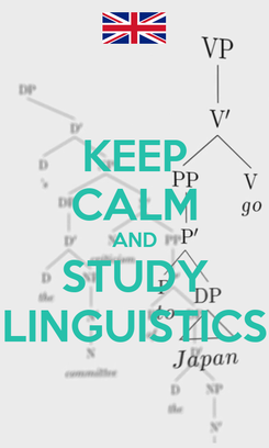 Poster: KEEP CALM AND STUDY LINGUISTICS