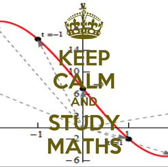 Poster: KEEP CALM AND STUDY MATHS