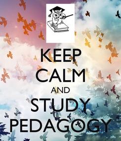 Poster: KEEP CALM AND STUDY PEDAGOGY