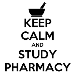 Poster: KEEP CALM AND STUDY PHARMACY