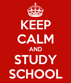 Poster: KEEP CALM AND STUDY SCHOOL