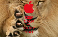 Poster: KEEP CALM AND STUDY SSAT