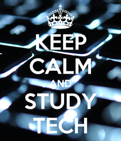 Poster: KEEP CALM AND STUDY TECH