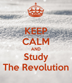 Poster: KEEP CALM AND Study The Revolution